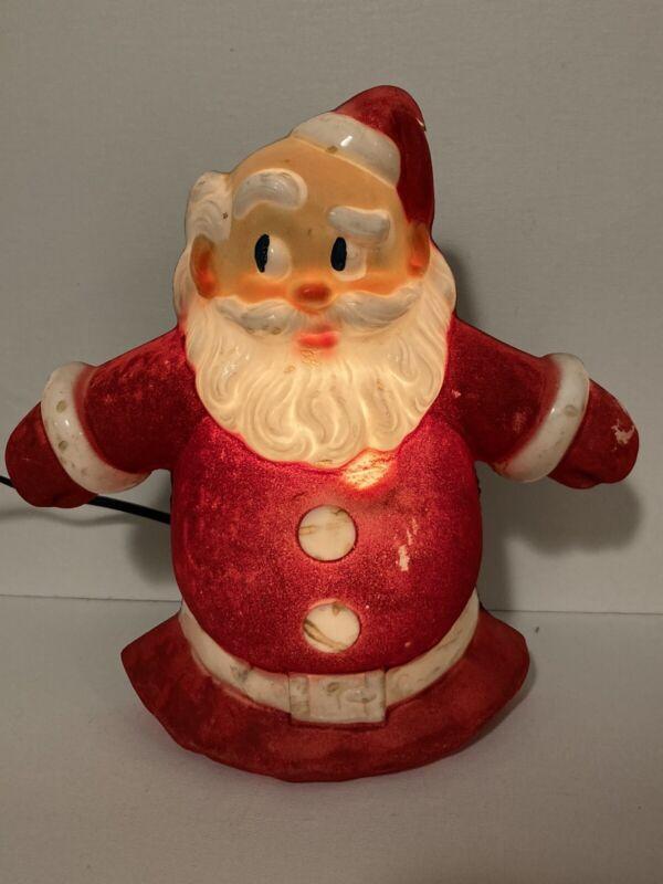 Vintage Noma Santa Plastic Glo Lite Christmas Tree Topper Light