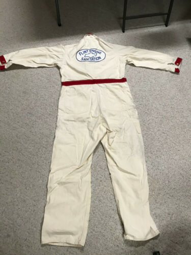 Vintage Flint Engine Chevy Factory Coveralls - Stone Cutter Brand Size 46