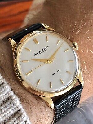 International Watch Company IWC Vintage Mens Automatic 18K Solid Gold watch