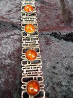 Bello ,vecchio Braccialetto___835 Argento __amber__50,2 Grammi_ -  - ebay.it