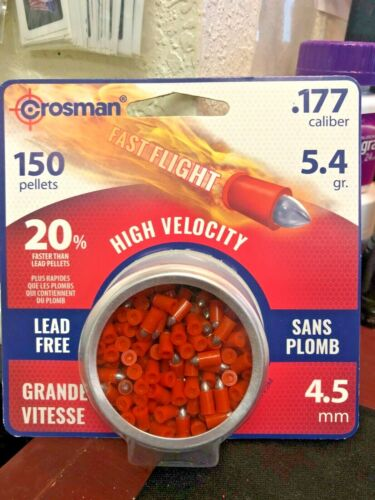 Crosman, 150 Pellets, .177 Caliber, High Velocity, Lead Free, 20% FASTER!, Fast