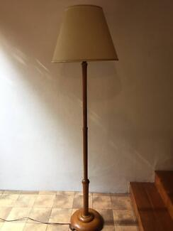 Vintage lamp shade in sydney region nsw gumtree australia free lovely vintage timber floor lamp mozeypictures Gallery