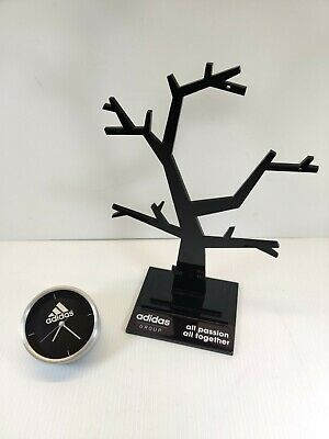 Adidas Retail Display Watch Jewelry Holder And Clock For Display Case