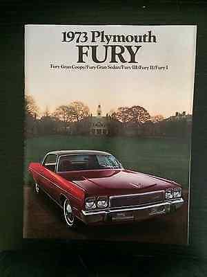 1973 Plymouth Fury I II III 20-page Sales Brochure Mopar Chrysler