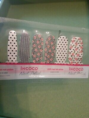 Incoco Sweet Style Nail Strips - flowers, stripes, polka dots