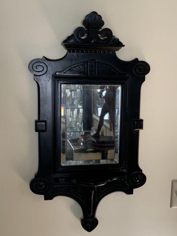 Rare Antique Eastlake Aesthetic Style Ebonized Mirror 1885
