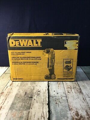 Dewalt 20v Max Li-ion Compact Right Angle Drilldriver Kit Dcd740c1 Read