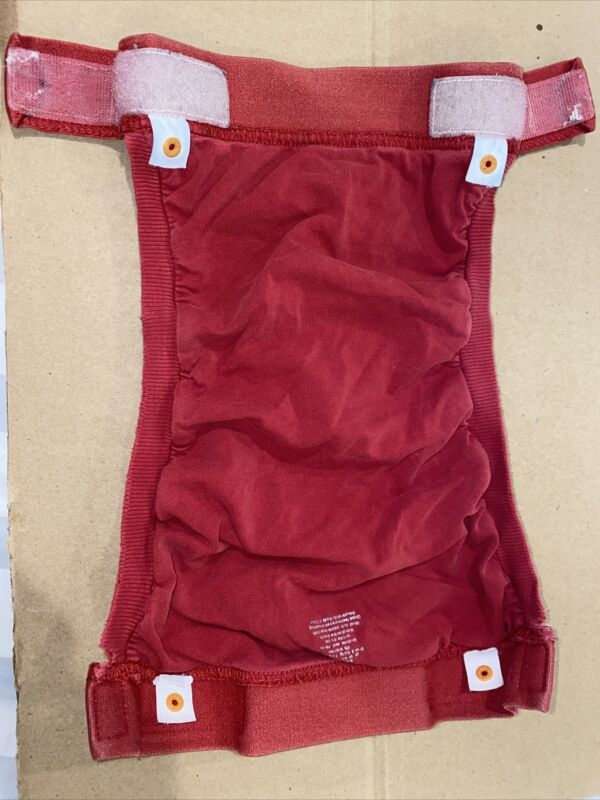 gDiapers - Group 1 - Large Red Gpant, 2 Liners, and 2 Gcloth Inserts