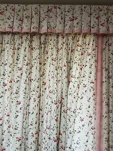 Curtains , Laura Ashley  with rails, pelmets and pelmet skirts New Lambton Heights Newcastle Area Preview