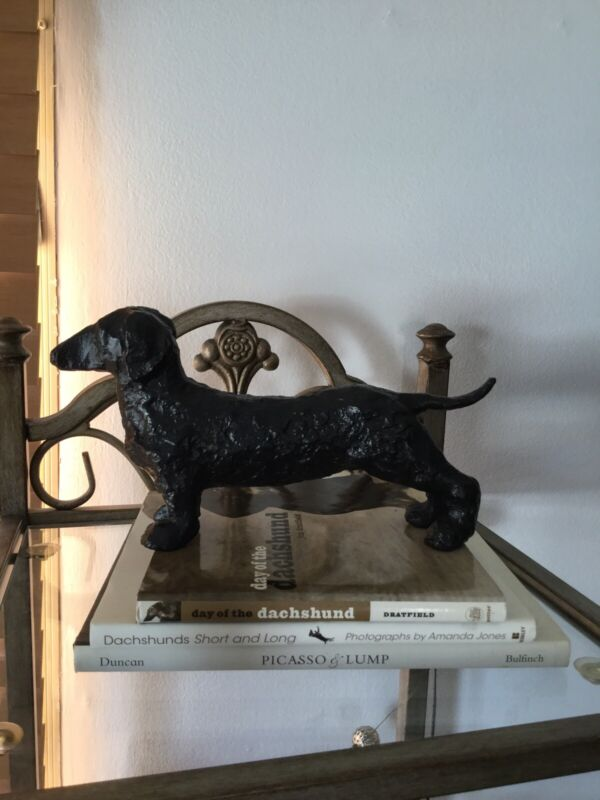 Dachshund Art Sculpture By Pottery Barn, Pre-owned/EUC