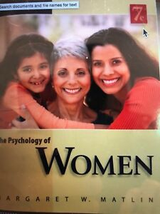 The psychology of women (7th Ed)