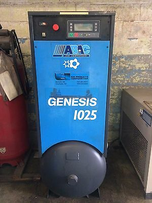 10 Hp Abac Rotary Screw Air Compressor With Refrigerated Air Dryer
