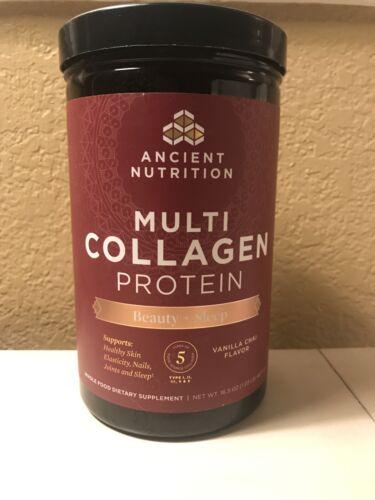 Ancient Nutrition Multi Collagen Protein, Beaty And Sleep, 16.5 Oz Vanilla Chai - $32.50