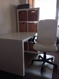 Expedit desk, chair and chair mat  Coorparoo Brisbane South East Preview