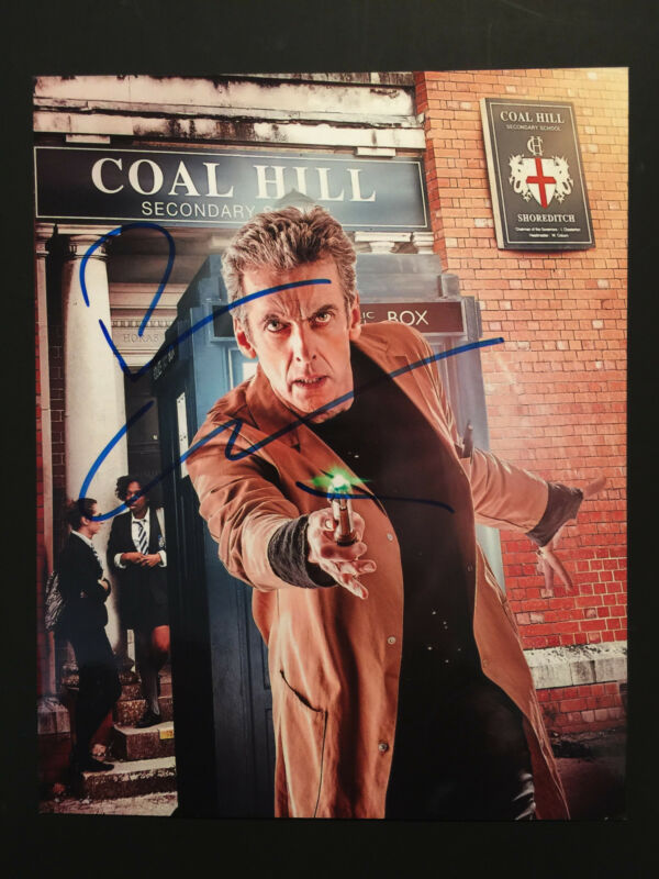 Peter Capaldi Doctor Who Autograph Signed Photo JSA COA 8 x 10 Dr Who
