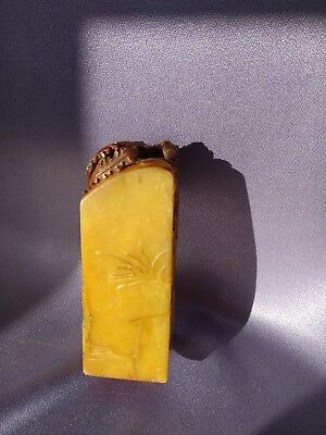 chinese soapstone seal phoenix flower shoushan shou shan chop seal