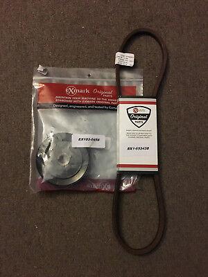 "Exmark Belt 1-653438   /  Genuine OEM 52"" Ultra Vac blower + Pulley 103-0456  comprar usado  Enviando para Brazil"