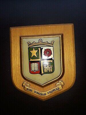 Vintage Wooden Plaque Nisi Dominus Frustra