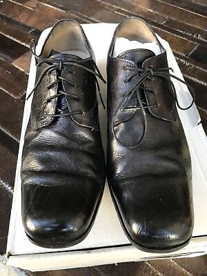 Augusta (A1923) Handmade in Italy Mens Derby Shoes, Black Fits Size 39, US 7 Men