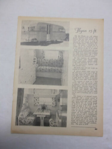 Flynn Caravan Original Article Removed from a 1951 Magazine