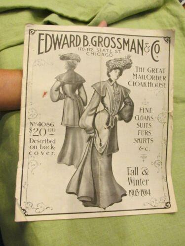 Antique 1903-04 EDWARD B GROSSMAN Chicago Victorian Women
