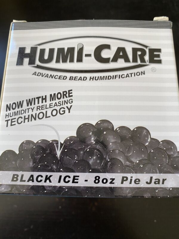 Humi-Care Black Ice 8oz Cigar Humidor Humicare Gel Pie Jar - New