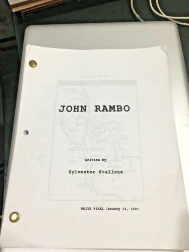 JOHN RAMBO ORIGINAL 2007 SHOOTING SCRIPT WRITTEN & STARRING SYLVESTER STALLONE R