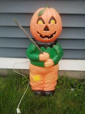 Vtg 1995 Union Halloween Blowmold Don Featherstone Pumpkin Head Scarecrow