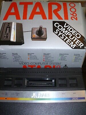 Atari 2600 games console boxed 2 joysticks 14 games fully working and tested ok