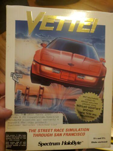 Computer Games - VETTE! Computer Game IBM PC 3.5 / 5.25 Disc Big Box Spectrum HoloByte