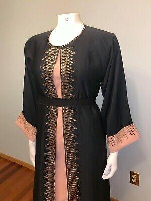 NEW 2 layer abaya !!! Khaleeji Arabic Open Jilbab Dubai Size  S, M, XL