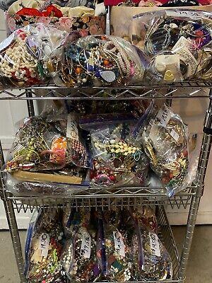 JEWELRY LOT - WEAR, REPAIR  CRAFT SCRAP - 5 Pound Lot Grab Bag Mint 5 Pound Bag