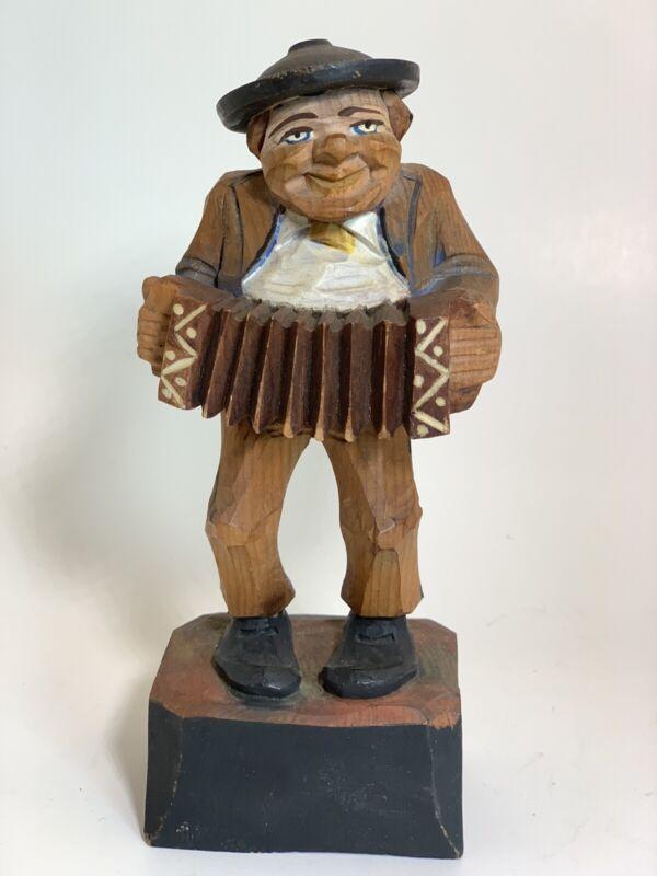 Vintage ANRI Italian Hand Carved Wood Figurine Man Garm