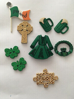 DRESS IT UP IRELAND IRISH SHAMROCK ST PATRICKS DAY CELTIC BEER EMERALD CROSS