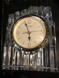 Seiko Quartz Crystal Clear Mantle Table Clock
