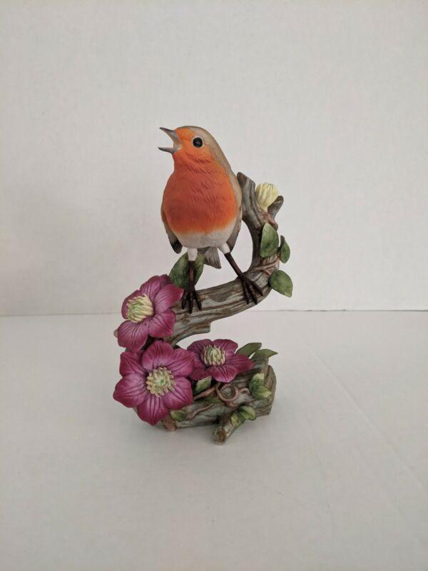 RSPB European Robin 1982 Limited Edition Bird Figurine from Franklin Porcelain