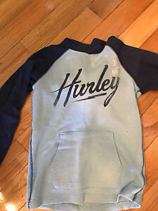 2 Large youth Hurley thick hooded shirts.