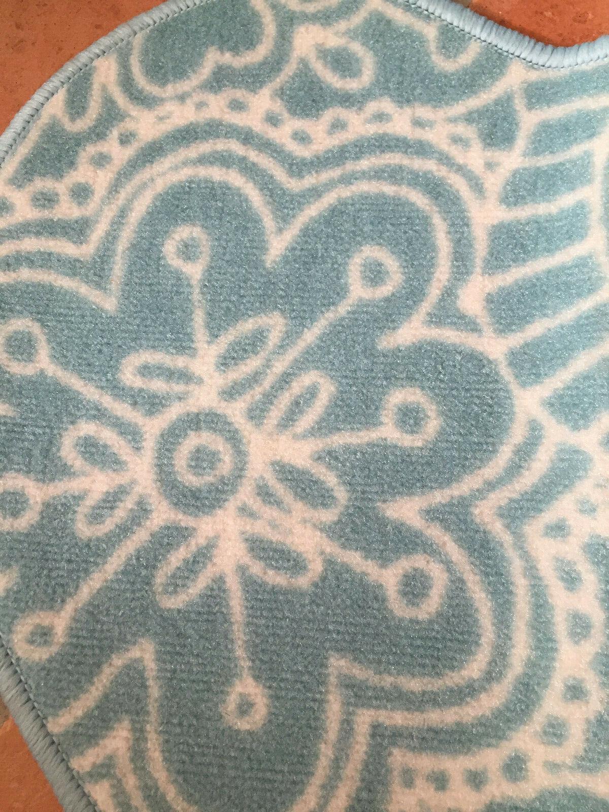 IKEA VÄNSKAPLIG Teppich, Türkis Kinderteppich  67x61 cm Herz NEU