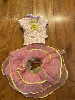 American Girl Wellie Wishers Doll Clothes Pink Gold Skirt Top fits 14.5