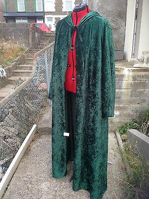 oversized bottle green Crushed Velvet   hooded cloak with sleeves. more colours ()