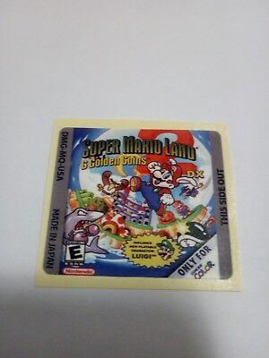 LABEL / STICKER FOR NINTENDO GAMEBOY SUPER MARIO LAND 2 DX GAMEBOY...