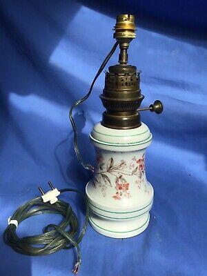 lampada ad olio in ceramica elettrificata