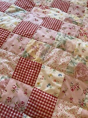 patchwork quilt Vintage Cath Ashley Floral