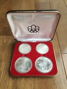 1976 Montreal Olympic Series 1 Geographic Four Coin Set