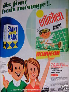 publicit 1967 lessive saint marc pour carrelage sol et. Black Bedroom Furniture Sets. Home Design Ideas