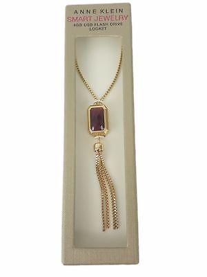 Anne Klein Necklace 4 GB USB Flash Drive Locket Gold  - Cheap Locket Necklace