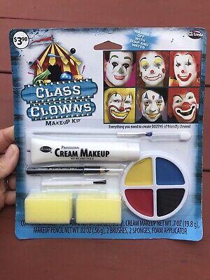 NIP Fun World Class Clown Cream Makeup Kit Pencil Applicators Halloween Lot Of 4 - Fun World Halloween Makeup Kits
