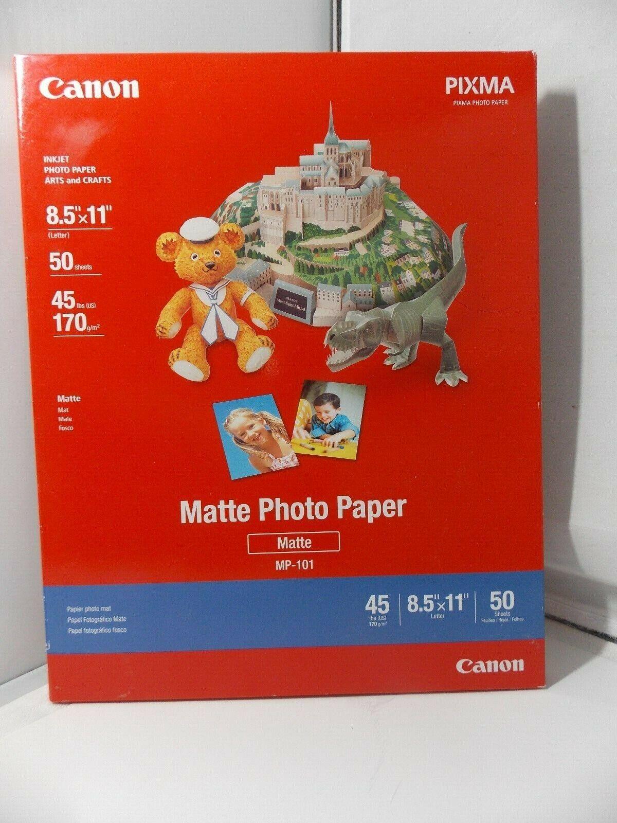 """Canon Matte Photo Paper 8 1/2 x 11"""" - 50 sheets"""