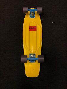 Penny Board Skateboard Yellow KMCS