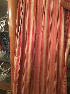 Beautiful Striped Silk Drapes
